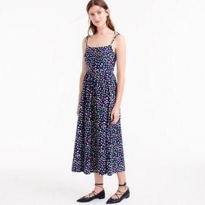 J.CREW 0 Ratti Happy Cat Print Midi Dress